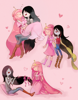 Marceline with PB by SASASAMI