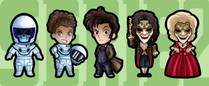 DOCTOR WHO MAGNET SERIES 2 by benlikesit