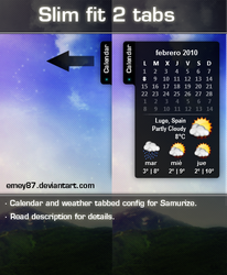 Slim fit 2: weather _ calendar by emey87