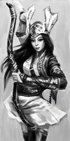 Chinese female archers by xck