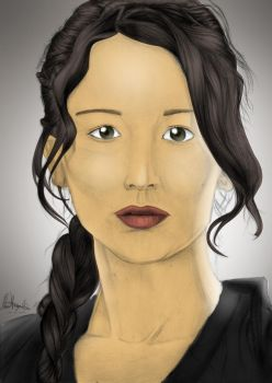Katniss Everdeen Painted by Daviskingdom