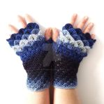 Blues Dragon Gloves by FearlessFibreArts