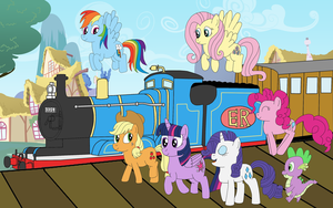 At The Train Station  by equestriaguy637