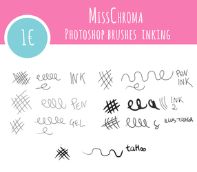 INK Brushes for Photoshop by MissChroma
