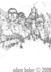 Mt. ScareMore-pencils by bakerchild84