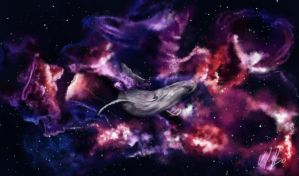 Universe Whale by VictorHugoJR