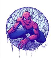 Spider-man_colored by SeanLenahanSD