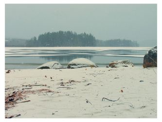 winter beach, Maine by sataikasia