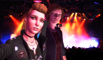 Chloe and Rachel at Concert by Eddy7454