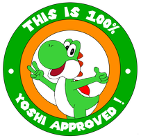 Yoshi approves label by ZeFrenchM