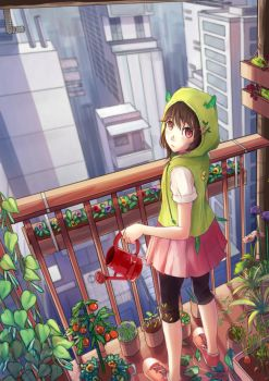 Sprout, in the Concrete Jungle by Chance-Lla