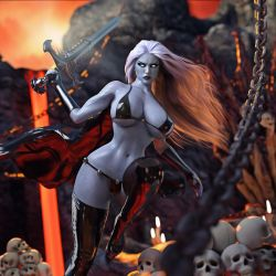 Lady Death in Hell by Devious3D