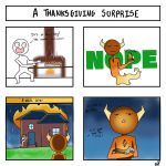 Late thanksgiving comic by JustUsWaffles