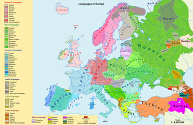 Languages of Europe by ChR1sAlbo