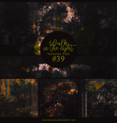 Textures pack #39 - Walk in the night by lune-blanche