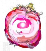 body inflated Princess PEach by morugen