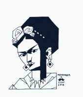 Movember#5 - Frida Kahlo by croovman