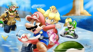 Super mario kart 7 by kjshadows131