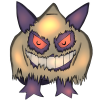 Gengar halloween Shaded by SociallyAwkwardShya