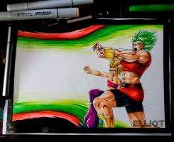 Kale and Caulifla (copic coloring) by EricksonD
