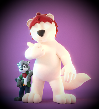 Commission: Rodney Raccoon and Sean the Squirrel by SmashingRenders