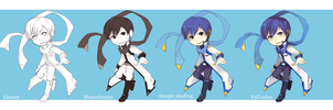KAITO - Vocaloid Chibi Examples by IceValaxy