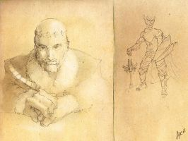 Parchment Drawings by ArthurK87