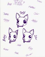 Puppies (drawn by my sister) by OptimusPower92