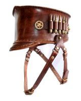 Steampunk Leather Shako 2 by AmbassadorMann