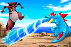 Feraligatr vs Krookodile