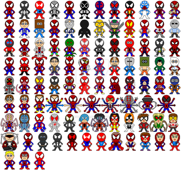 Spiderman family 1962-2009 by Angus-Nitro