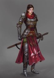 Female knight by Timkongart