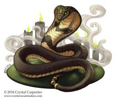Scrying Snake by soulofwinter