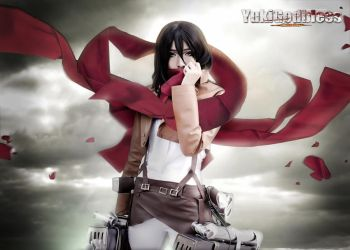 MikasaAttack on titan Cosplay by yukigodbless