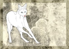 Avalon the Albanistic Maned Wolf by mistywren
