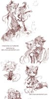 Sketches page commission :: InuRenko by bibi-chan