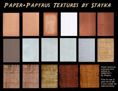 Paper+Papyrus Textures Stock by stayka