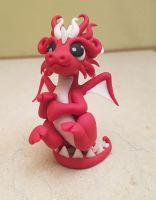 red  glow in the dark dragon by claymeeples