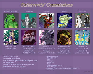 2016 Commission Sheet by Rageaholic7898
