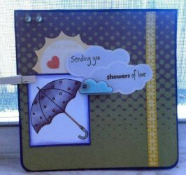 Showers of love Handmade card by SeasonablyCute