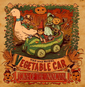 vegetable car by hakutooon