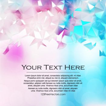 Polygonal Background Free Vector by 123freevectors
