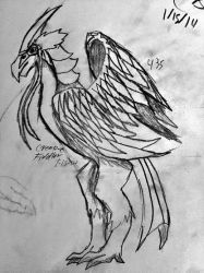 Some type of bird my brain though of in 2014 by CreativeFiddler