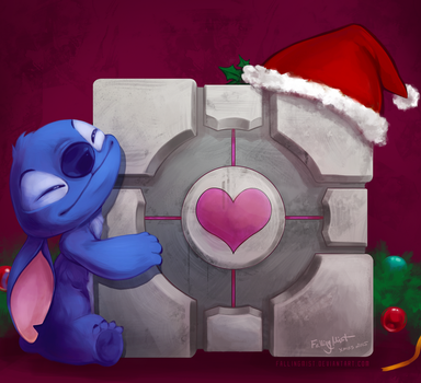Crossover: Portal and Stitch by FallingMist