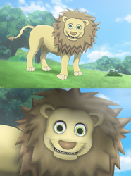 The Scary Lion by Xamp6