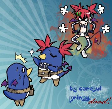 Be careful prinny, dood by GothicIchigo