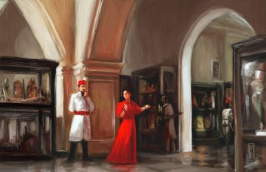 Aleister and Rose in the Cairo Museum 1904 by Mitchellnolte