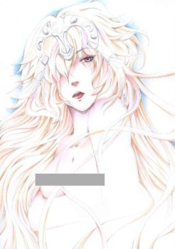 Ruler - fate/ apocrypha colored sketch by psychokitty86