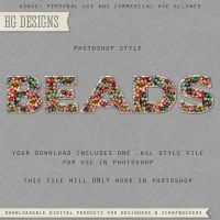 PS Style: BEADS by HGGraphicDesigns