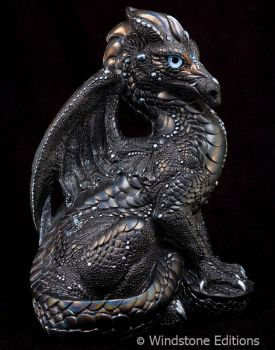 Black glitter Male dragon by Reptangle